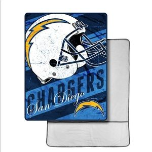 San Diego Chargers blanket with foot pocket NWT